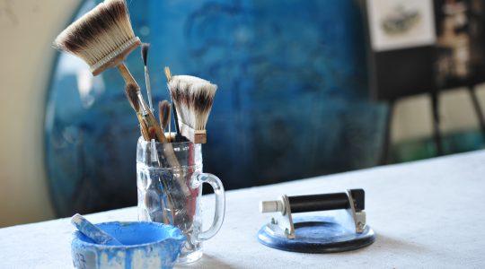 Archiglass paint brushes