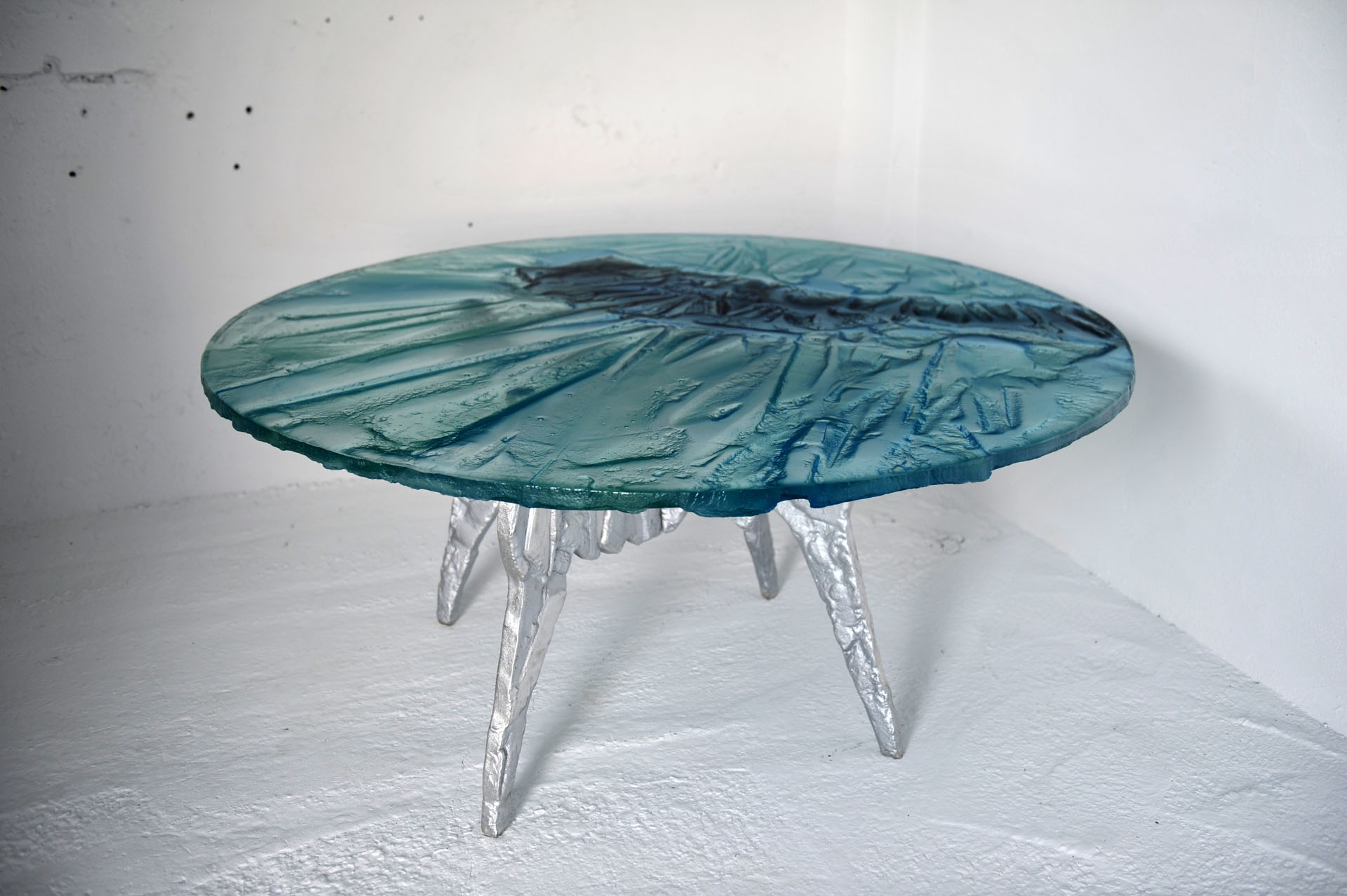 Archiglass Art Glass Table KOŁO 25412 Kaukaz