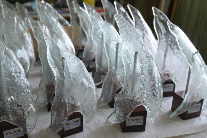 EXPO 2008 Archiglass Art Glass Prize Szklana Artystyczna Nagroda Statuetka