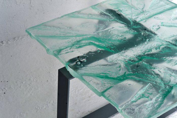 Archiglass Applied Arts Glass Table Stolik Szklany Antykra Diamant Szary 80x80