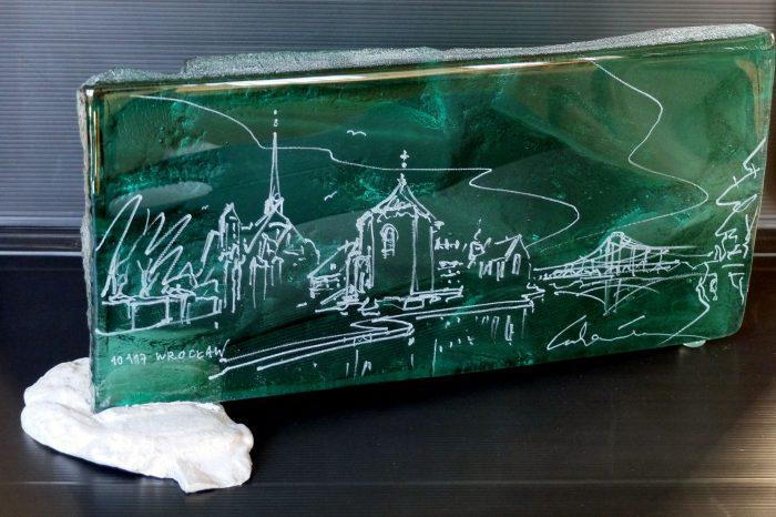 Archiglass Art Glass Prize Szklana Artystyczna Nagroda Statuetka Kwadrat2