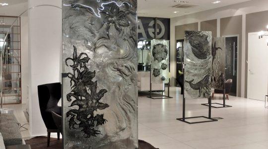 """ARCHIGLASS Tomasz Urbanowicz, prof. Przemysław Tyszkiewicz, Grafika w Szkle Artystycznym. Prints in Glass Art. """"3000 lat gwarancji"""" Corsydiany"""