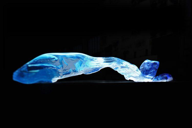 ARCHIGLASS Tomasz Urbanowicz Art Glass Braid Sculpture Szkło Artystyczne Warkocz Rzeźba
