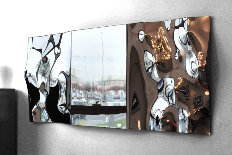 Lustro mirrOrnament by ARCHIGLASS Konrad Urbanowicz | Mirror mirrOrnament 75 x 225 cm