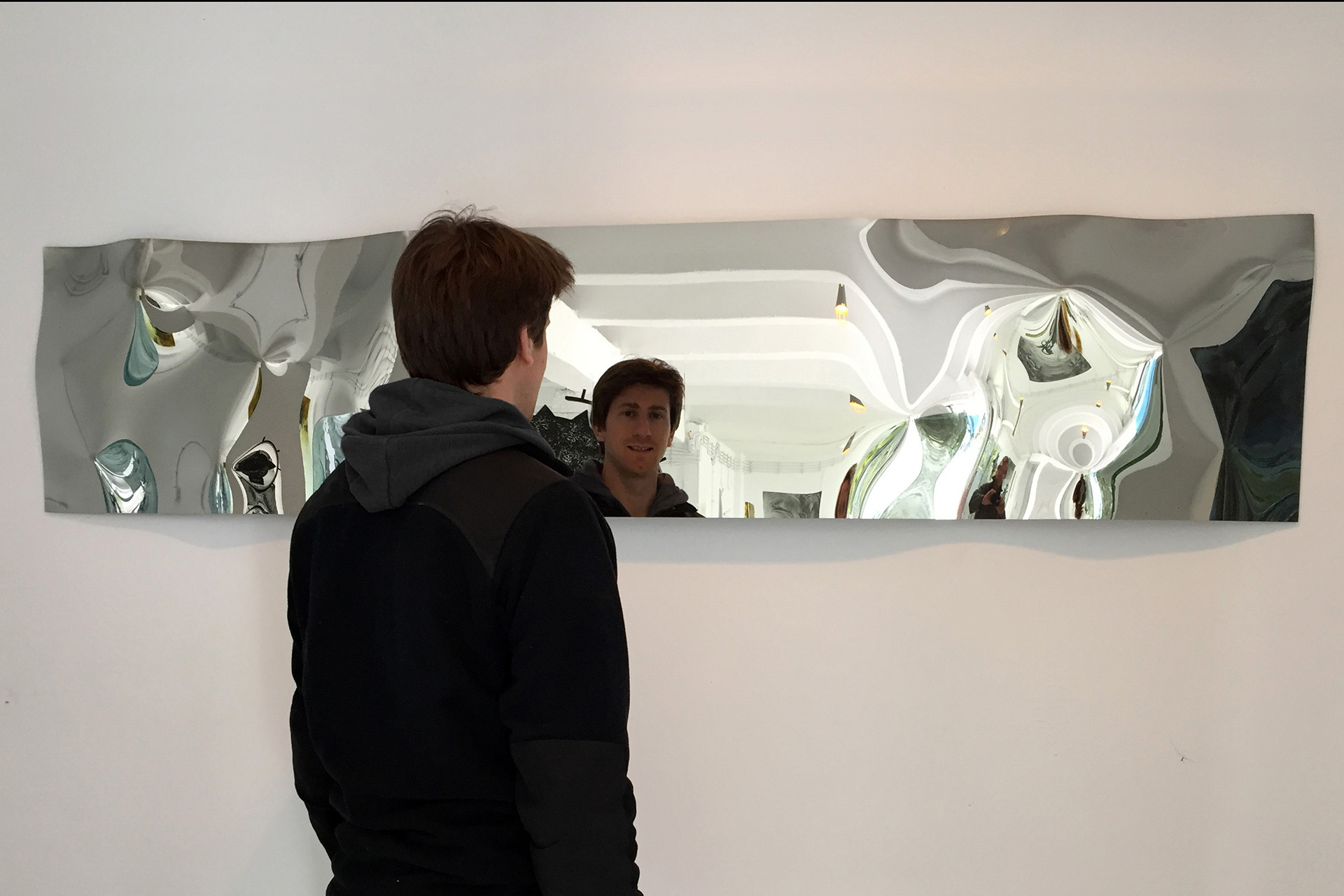 Lustro mirrOrnament by ARCHIGLASS Konrad Urbanowicz | Mirror mirrOrnament 50 x 225 cm