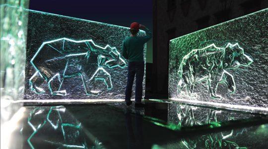 Wyróżnienie honorowe w konkursie na szklaną rzeźbę niedźwiedzia w Rawiczu - Archiglass