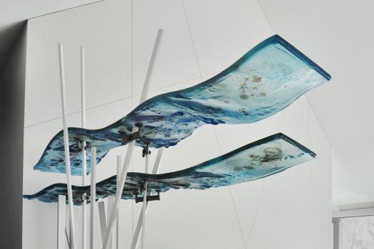 ARCHIGLASS Tomasz Urbanowicz Szklana rzeźba artystyczna Glass sculpture Szklane fale Glass waves