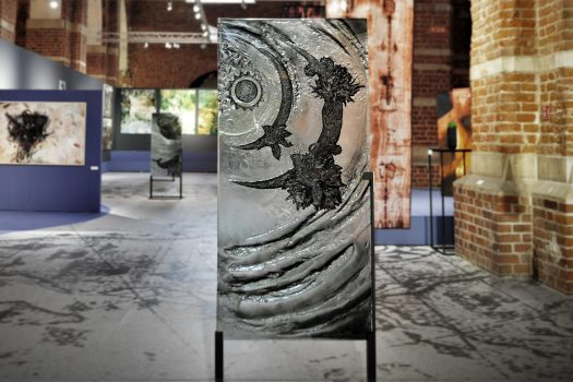 """ARCHIGLASS Tomasz Urbanowicz, prof. Przemysław Tyszkiewicz, Grafika w Szkle Artystycznym. Prints in Glass Art. """"3000 lat gwarancji"""" Corsydiany, Północna Fala"""