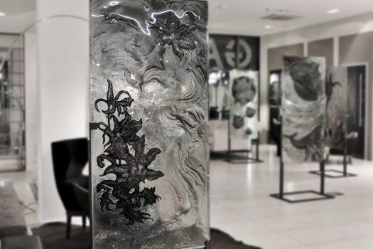 """ARCHIGLASS Tomasz Urbanowicz, prof. Przemysław Tyszkiewicz, Grafika w Szkle Artystycznym. Prints in Glass Art. """"3000 lat gwarancji"""" Corsydiany, Okavango"""
