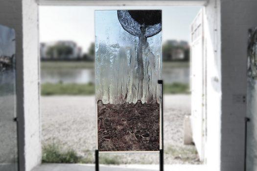 """ARCHIGLASS Tomasz Urbanowicz, prof. Przemysław Tyszkiewicz, Grafika w Szkle Artystycznym. Prints in Glass Art. """"3000 lat gwarancji"""" Corsydiany, Marsowe Termy"""