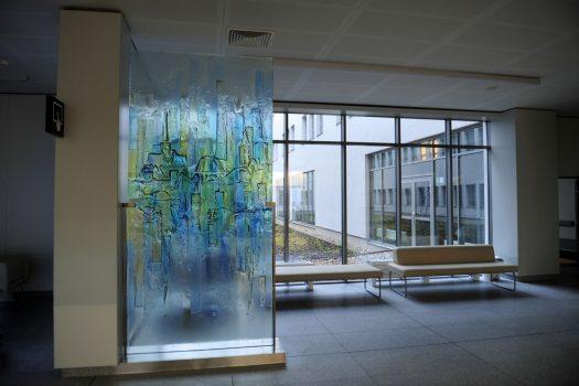 Glass Wrocław at Dolnośląski Szpital Specjalistyczny im. T. Marciniaka - Centrum Medycyny Ratunkowej in Wrocław, Poland by Archiglass, Tomasz Urbanowicz. All rights reserved.
